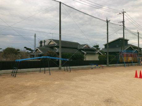 小学校防球ネット設置工事