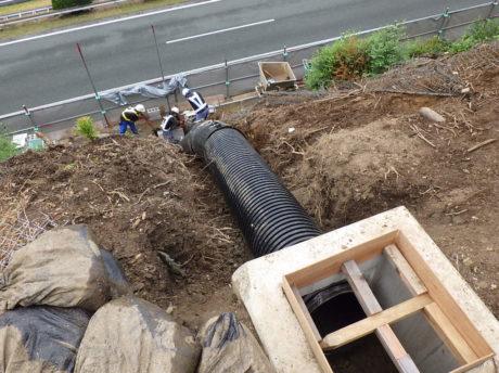 久留米縦排水管設置