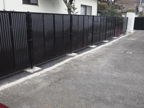 フェンス設置工事
